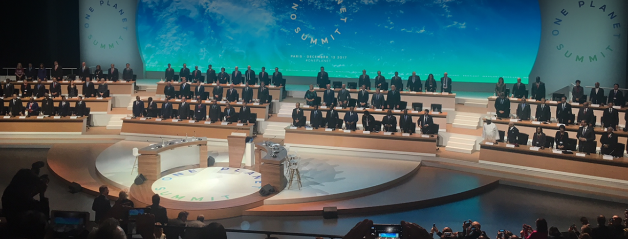 Lancement One Planet Summit décembre 2017